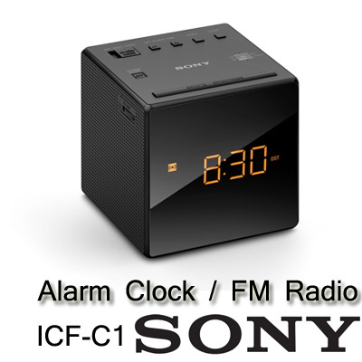 qoo10 sony icf c1 digital lcd alarm clock with fm am radio dimmer in black home electronics. Black Bedroom Furniture Sets. Home Design Ideas