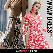 Wrap Dress NEW Arrivals Trendy