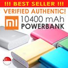 ★100% Authentic! FREE GIFT!★New 10000mAh SG Shop Assurance! Xiaomi 10400mAh Powerbank Portable Charger iphone 5/5S iOS7 Samsung/xiao mi Power Bank Silicone 10400 mah Xiaomi Power Bank