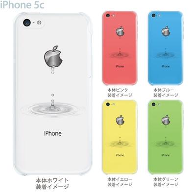 【iPhone5c】【iPhone5c ケース】【iPhone5c カバー】【ケース】【カバー】【スマホケース】【クリアケース】【クリアーアーツ】【アップルマークから水が・・・】 08-ip5cp-ca0046bの画像