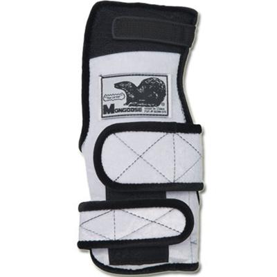 ABS(アメリカン ボウリング サービス) マングース ホワイト W 【ボウリンググローブ リスタイ サポーター ボーリング】の画像