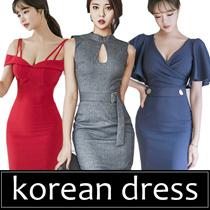 2017 HIGH QUALITY FASHION LADY KOREAN SLIM DRESS SEX DRESS PARTY DRESS