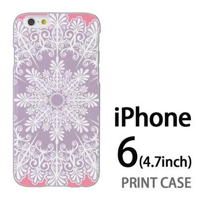 iPhone6 (4.7インチ) 用『1216 結晶 白』特殊印刷ケース【 iphone6 iphone アイフォン アイフォン6 au docomo softbank Apple ケース プリント カバー スマホケース スマホカバー 】の画像
