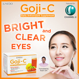 GET CRYSTAL CLEAR EYES! ♥Junedo GOJI-C As seen on Channel U♥ 30 Sachets/ box ♥ Antioxidant/ Lutein♥ Supports eyes/ overall health♥ Formulated by Celebrity Bryan♥