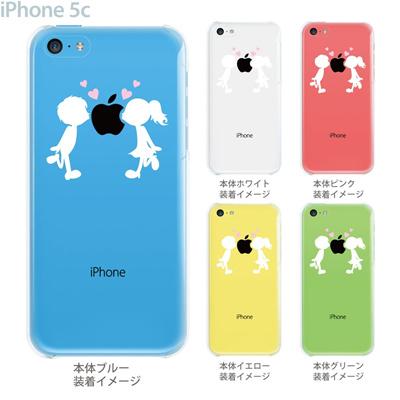 【iPhone5cケース】【iPhone5cカバー】【スマホケース】【クリア】【クリアケース】【イラスト】【クリアーアーツ】【小さなカップル】 10-ip5cp-ca0013の画像