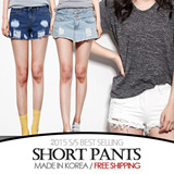 [grey u][FREE SHIPPING]Short Pants / Hot Pants♥Made in KOREA~!]★S/S 2015 Best Selling Premium Jeans in Korea♥free shipping/Skinny Pants/Washed Tight Denim Pants/Slim Pencil Pants/Various Size
