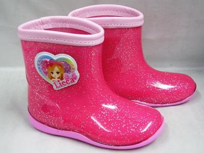 (B倉庫)Licca リカちゃん 2065 子供長靴 女の子 キャラクター レインシューズ キッズ レインブーツの画像
