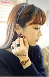 ※半額セール※♥韓国ファッション♥ブラックメッキリング3点セット/男女兼用/フリーサイズ/クール/リング/レディースリング/メンズリング