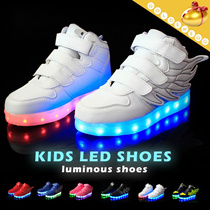 (All Flat Price) ▶Children LED light luminous shoes◀USB charging/ LED colorful and beautiful light/ Irradiative shoes/ Cute boys n girl/ Breathable n comfortable