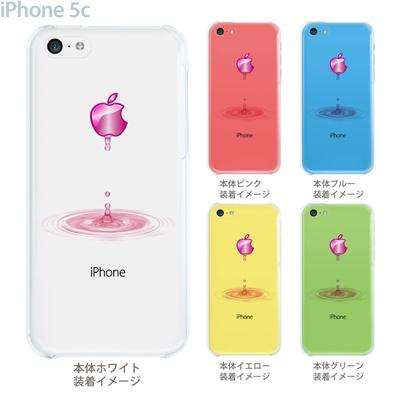 【iPhone5c】【iPhone5c ケース】【iPhone5c カバー】【ケース】【カバー】【スマホケース】【クリアケース】【クリアーアーツ】【アップルマークから水が・・・】 08-ip5cp-ca0046cの画像