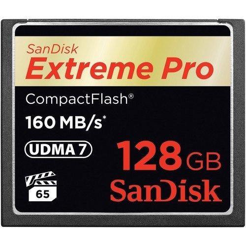 【クリックで詳細表示】Sandisk Extreme Pro 128 GB CompactFlash (CF) Card SDCFXPS-128G-A46