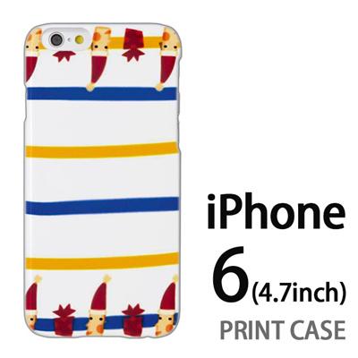 iPhone6 (4.7インチ) 用『1217 サンタストライプ』特殊印刷ケース【 iphone6 iphone アイフォン アイフォン6 au docomo softbank Apple ケース プリント カバー スマホケース スマホカバー 】の画像