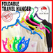 Travel foldable Hanger Dual Folding Cloth Hanger/ Durable Clothes Hanger/ For Travel/ Save Space / Convenient/ Lightweight *Best Present and gifts for Christmas Birthday Corporate Church Door Gift