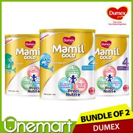[DUMEX] 2 x 1.6kg Mamil Gold Step 2/3/4 Baby Milk Formula ★ Official SG Fresh Stock ★