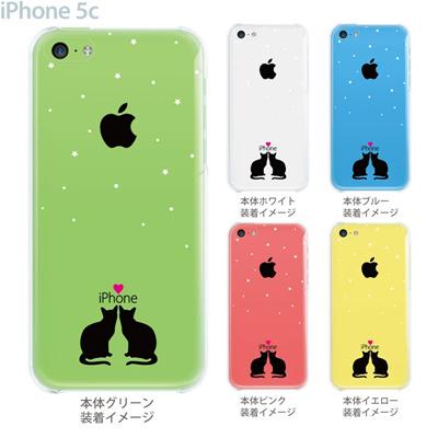 【iPhone5c】【iPhone5cケース】【iPhone5cカバー】【クリア ケース】【iPhone カバー】【スマホケース】【クリアケース】【イラスト】【クリアーアーツ】【ネコ】 22-ip5c-ca0087の画像