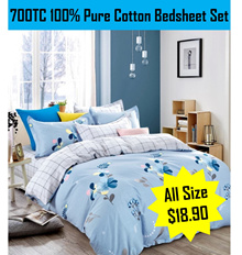 ★100% Pure Cotton 700TC★ Bedsheet Set