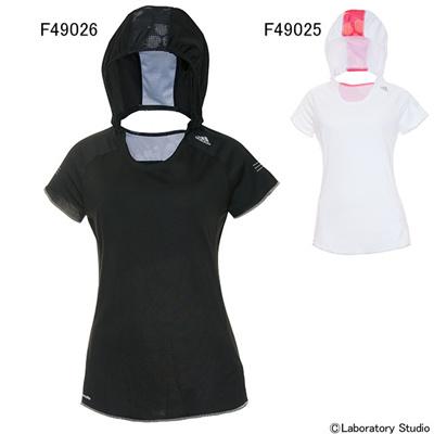 アディダス (adidas) レディース 蘭 フーディーT S/S AML30 [分類:ランニング Tシャツ (レディース)]の画像