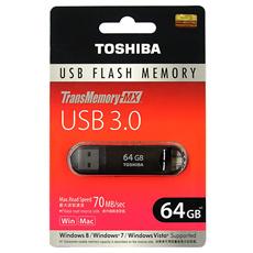 ◇ 【64GB】 TOSHIBA/東芝 USBメモリー TransMemory-MX USB3.0対応 ブラック 海外リテール V3SZK-064G-BK ◆メ