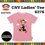 [Paul Frank] Celebrate CNY 2016 Monkey Year with Paul Frank Ladies Tee/Style 6276/Pink color. Size XS-L available. Free Qxpress Shipping/Store Pickup. 100% Authentic!