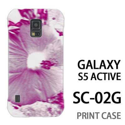 GALAXY S5 Active SC-02G 用『No3 ネガ 花アップ』特殊印刷ケース【 galaxy s5 active SC-02G sc02g SC02G galaxys5 ギャラクシー ギャラクシーs5 アクティブ docomo ケース プリント カバー スマホケース スマホカバー】の画像