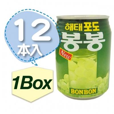 【韓国食品・韓国食材・韓国飲み物】やっぱり飲料も美味しい! ■韓国のぶどうボンボン(缶238ml)■1Box(12ea)の画像