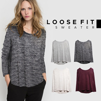 新コレクションの女性のLoosefitセーター -  2つのモデル - 基本的なセーター - レディースファッション - 良質