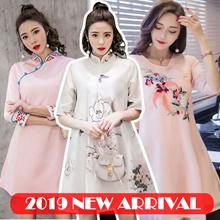 ★★IFASHION★New Arrival★WOMEN2019 CNY DRESS★★Cheongsam 2019 New desgin  dress CNY DRESSES cny clothes
