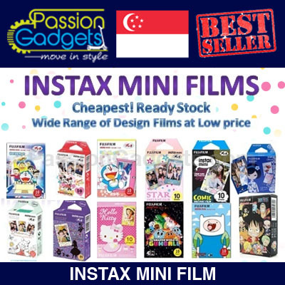 ?Cheapest? ? Instax Mini Film For Mini 8 7s 25 50s 90 Cartoon Plain hello Kitty Polaroid Sanri Deals for only S$14.9 instead of S$0