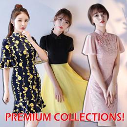 Premium Denim Fashion Cheongsam Qipao Traditional Clothes 旗袍 Plus Size dress CNY Chinese New Year