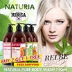 ★NATURIA KOREAN BODY WASH★BUY 2 GET 1 FREE★750ML★LOWEST PRICE GUARANTEED★