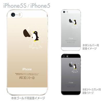 【iPhone5S】【iPhone5】【Clear Arts】【iPhone5sケース】【iPhone5ケース】【クリア カバー】【スマホケース】【クリアケース】【ハードケース】【着せ替え】【イラスト】【クリアーアーツ】【ペンギン】 10-ip5s-ca005bkの画像