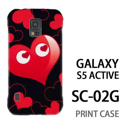 GALAXY S5 Active SC-02G 用『No3 ハートマン 黒×赤』特殊印刷ケース【 galaxy s5 active SC-02G sc02g SC02G galaxys5 ギャラクシー ギャラクシーs5 アクティブ docomo ケース プリント カバー スマホケース スマホカバー】の画像