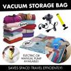 Vacuum Storage Bag Organizer - Electric or Manual Pump available