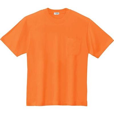 ジーベック(XEBEC)半袖Tシャツ82/オレンジ35000【作業服作業着ワークウエアワークウェア】
