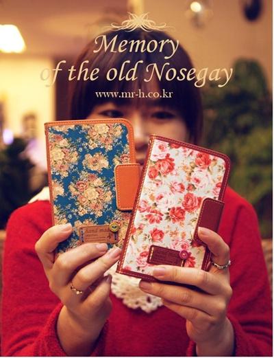 iPhone6/アイフォン6/新しいiPhone/New iPhone/アイフォン6 DiaryiPhone6ケース  /Mr.H Nosegay (ノーズゲイ) ダイアリータイプ レザーケースの画像