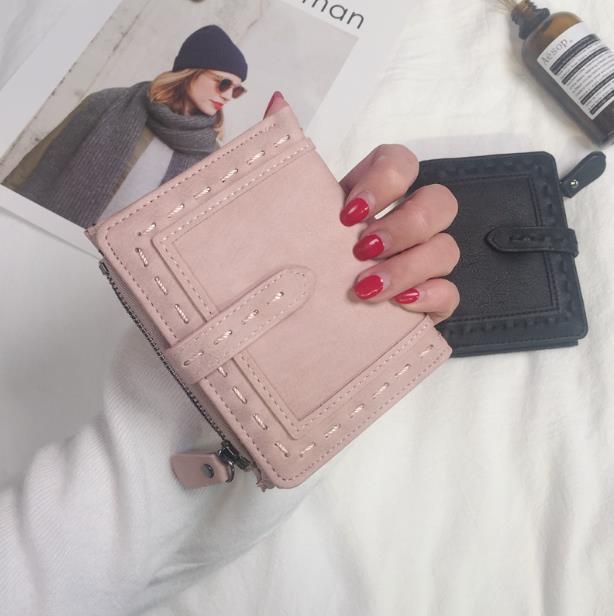 夏新品可愛い財布 レディース財布 5色から選べる レディース 女の子 韓国ファッション 財布 レディース 二つ折り 小銭入れ 高級 レザー ラウンドファスナー 財布 韓国
