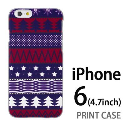 iPhone6 (4.7インチ) 用『1218 もみの木ストライプ 赤紫』特殊印刷ケース【 iphone6 iphone アイフォン アイフォン6 au docomo softbank Apple ケース プリント カバー スマホケース スマホカバー 】の画像