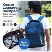 Korean Luggage Backpack|Short Trip Bag|The Luggage Can Be a Backpack|Waterproof Luggage