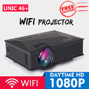 🌟FREE SHIPPING!🌟WIFI PROJECTOR UC46+/ Android WIFI RD805🌟the cheapest 1080P portable
