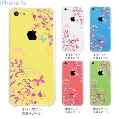 【iPhone5c】【iPhone5cケース】【iPhone5cカバー】【ケース】【カバー】【スマホケース】【クリアケース】【フラワー】【花と蝶】 22-ip5cp-ca0080の画像