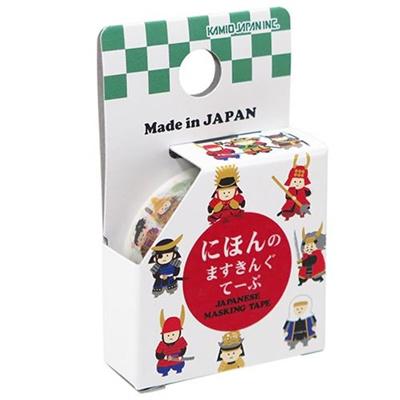 インバウンドマスキングテープにほんのますきんぐてーぷ武将BUSHOカミオジャパン幅15mm×長さ5メートル日本製和紙デコテープグッズ通販シネマコレクション■