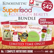 Kinohimitsu Superfood Beauty Bundle (Bundle of 3) - Superfood 2tins + BeautyCollagen [Health/Beauty]