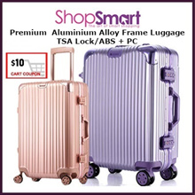 *APPLY Qoo10 COUPON*Aluminium Alloy Frame Luggage|Zipless Suit Case| TSA Lock|20 26 29Inch
