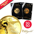 Singapore 50th Anniversary Gold 5g  souvenir / gifts / SG50 / merlion / gift / gold coin