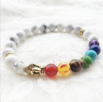 Unisex Chakra beads (healing stone) and lava stone bracelet - ideal teachers day gifts