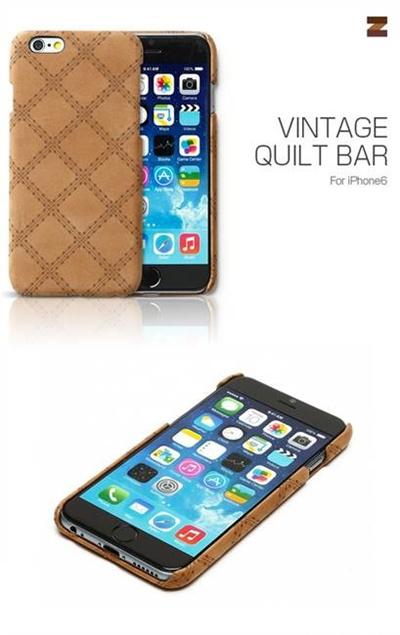 iPhone6カバーアイホン6 アイフォン6ケースiphoneケース アイフォン ブランド iphoneカバーiPhone6用 【iPhone6 4.7インチ 】 ZENUS Vintage Quilt Bar(ビンテージキルトバー)【メール便送料無料】の画像