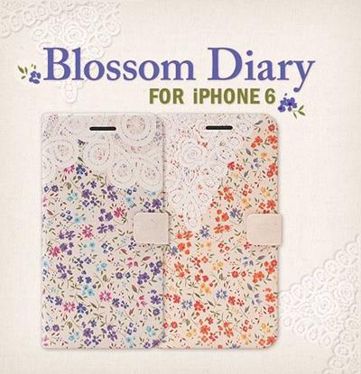 iPhone6カバーアイホン6 アイフォン6ケースiphoneケース アイフォン ブランド iphoneカバーiPhone6用 【iPhone6 4.7インチ】 Happymori Blossom Diary (ブロッサムダイアリー) 【レビューを書いてメール便送料無料】の画像