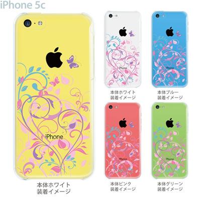 【iPhone5c】【iPhone5cケース】【iPhone5cカバー】【クリア ケース】【iPhone】【カバー】【スマホケース】【クリアケース】【イラスト】【フラワー】【花と蝶】 22-ip5cp-ca0083の画像