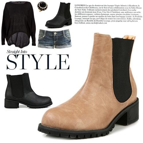 【クリックでお店のこの商品のページへ】★大人気★[4cm] Easy bending round ankle boots女性の靴高品質の新商品大特価パンプスフラットローファーサンダルスニーカーブーティーヒールウォーカーヒルブーツバイクブー