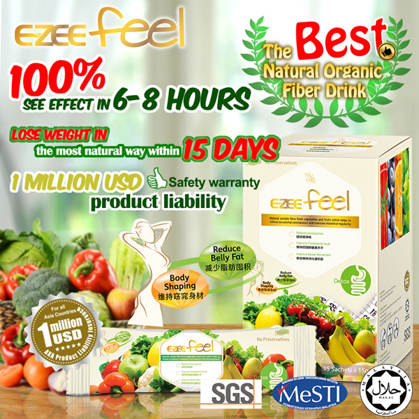 7 Sachets Ezee Feel Effective Weight Loss Formula Slimming Diet Relieve Constipation Organic Detox
